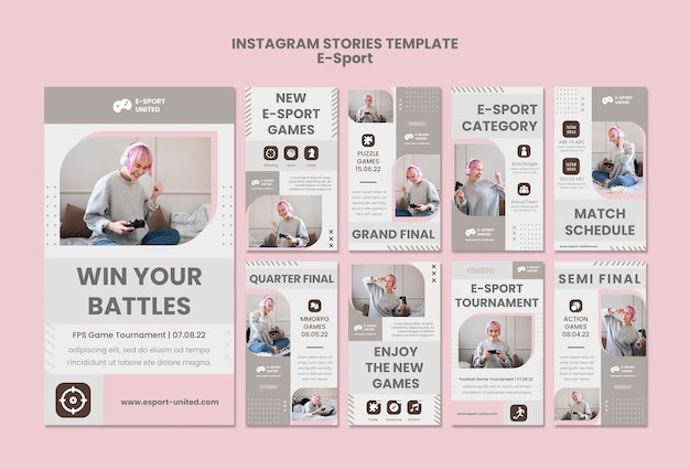 E-sports instagram verhalenpakket