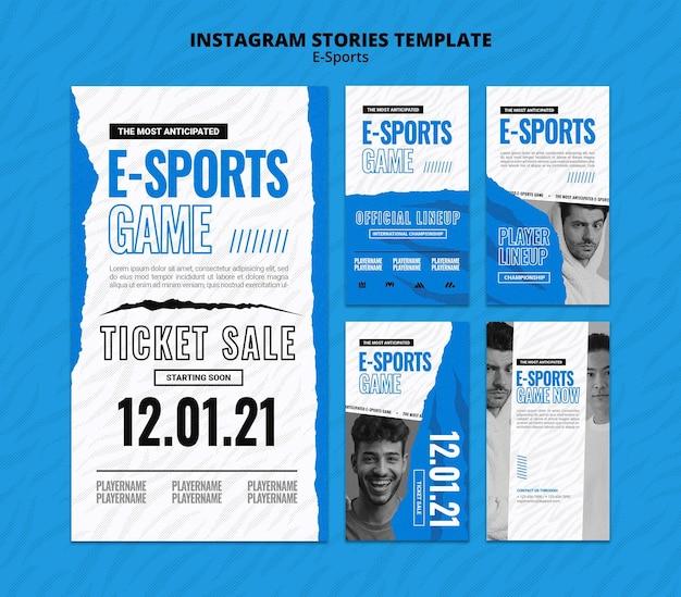 E-sports sociale media verhalen set