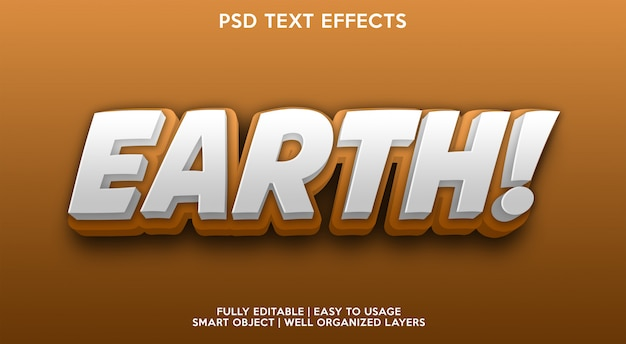 Earth text effect-sjabloon