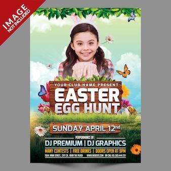 Easter egg hunt sjabloon folder