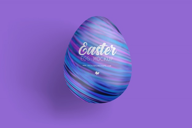 Easter egg mockup, top view