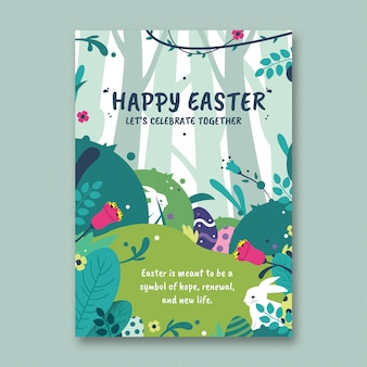 Easter flyer-sjabloon