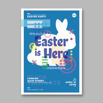 Easter party flyer-sjabloon
