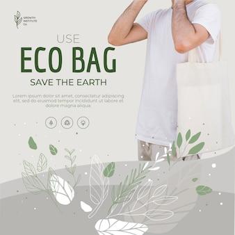Eco bag ricicla per l'ambiente e l'uomo