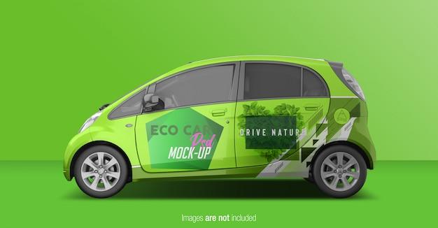 Eco car psd mockup zijaanzicht
