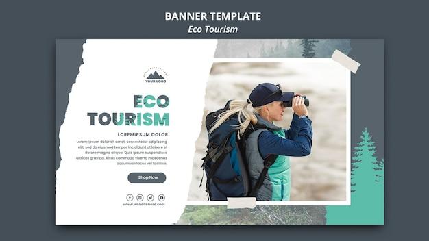 Eco toerisme sjabloon