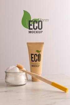 Eco-vriendelijke concept mock-up