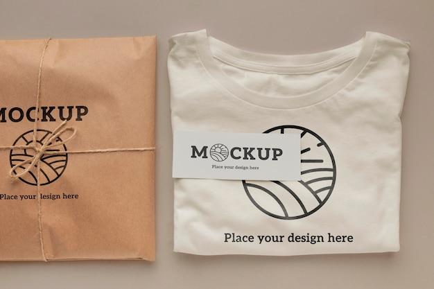 Ecologisch t-shirt verpakkingsmodel