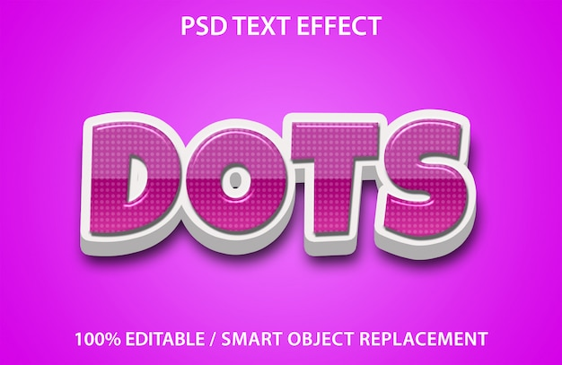 Editable text effect dots premium