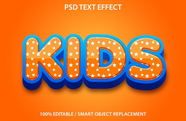 Editable text effect kids premium