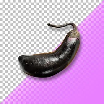 Een close-up van de hele aubergine grafisch ontwerp element.psd