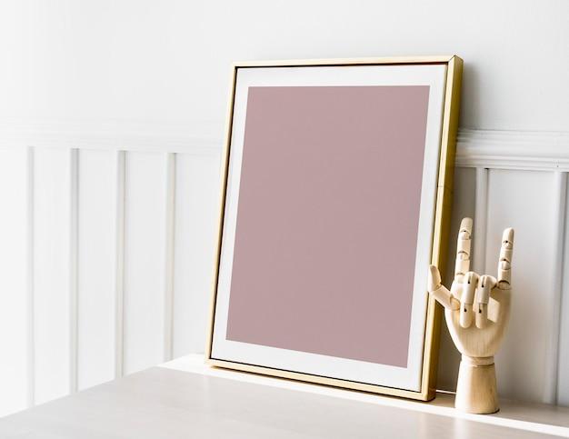 Een gouden framemodel