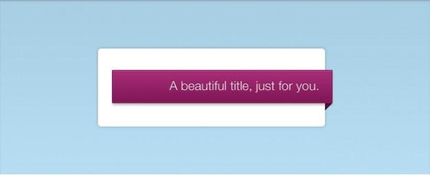 Een pink levendige titel interface