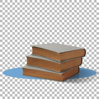 Een stapel oude boeken transparante achtergrond