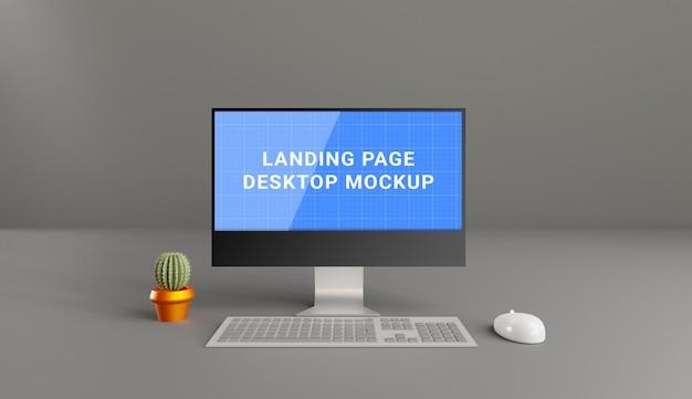 Eenkleurig desktopmodelontwerp