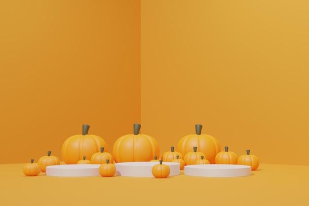 Eenvoudig 3d render halloween-podium