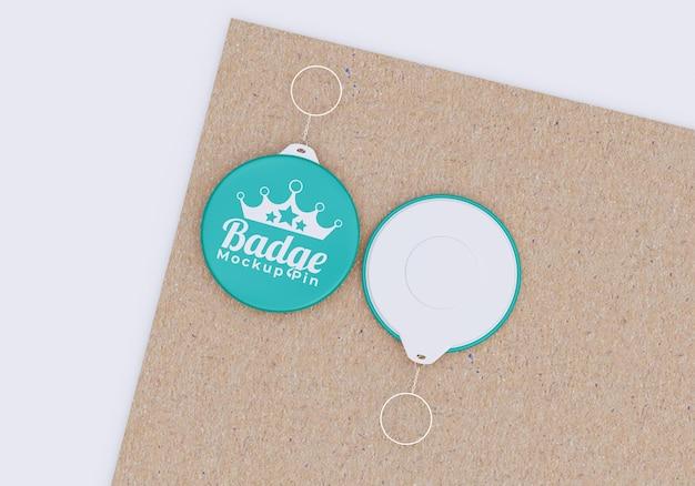 Eenvoudig badge-model voor merchandising Premium Psd