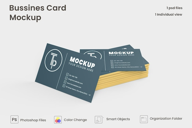 Eenvoudig elegant visitekaartjemodel