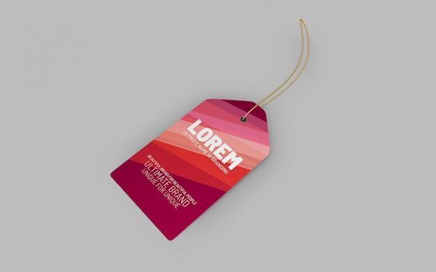 Eenvoudig elegante doek tag mockup presentatie