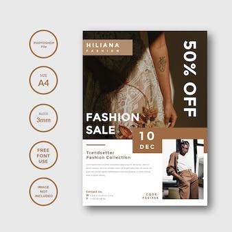 Eenvoudig en minimalistisch modefolder promotiesjabloon