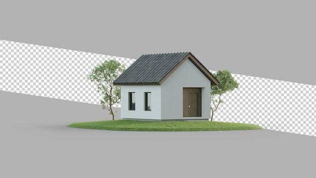 Eenvoudig huis psd geïsoleerd in vastgoedinvesteringsconcept