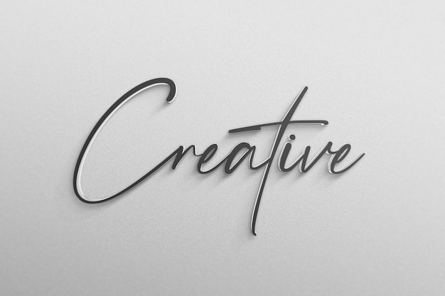 Eenvoudig logo mockup