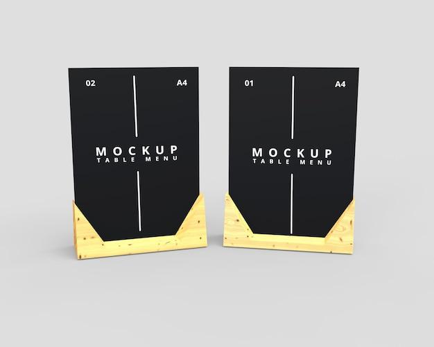 Eenvoudig mockup-ontwerp voor restauranttafels
