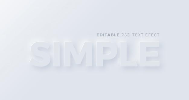 Eenvoudig neumorfisme teksteffect