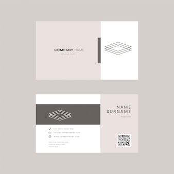 Eenvoudig psd bewerkbare sjabloon voor visitekaartjes