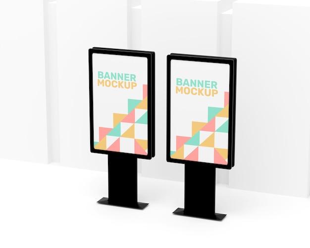 Eenvoudig reclamebordmodel