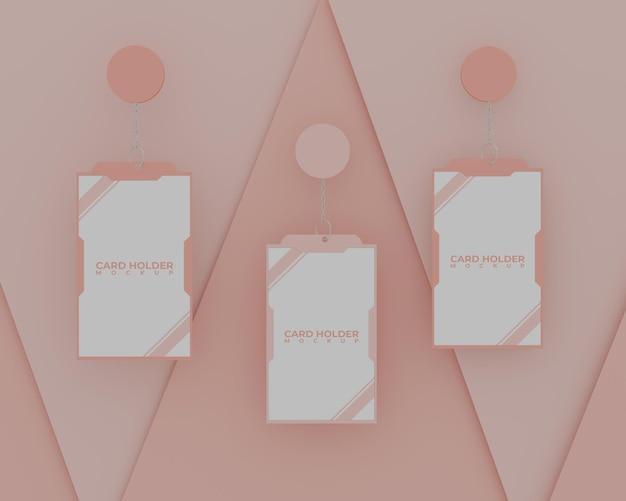 Eenvoudig roze id-kaarthoudermodel