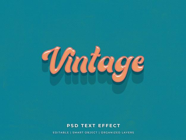 Eenvoudig vintage teksteffect