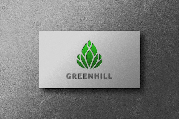 Eenvoudig visitekaartje logo mockup