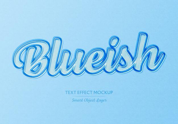 Eenvoudig zacht blauw papier teksteffect