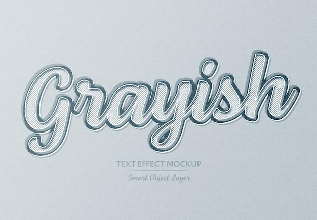 Eenvoudig zacht grijs papier teksteffect
