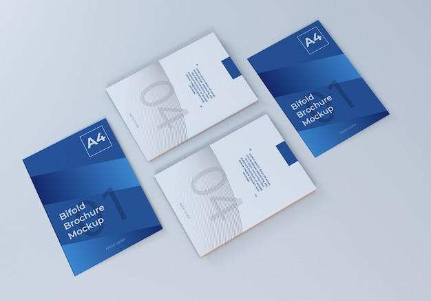 Eenvoudige a4 bifold leaflet mockup voor presentatie