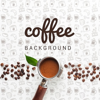 Eenvoudige achtergrond met koffie