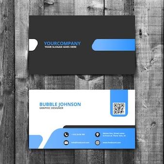 Eenvoudige corporate business card template