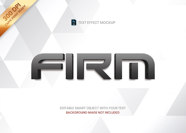 Eenvoudige elegante luxe donkere gradiënt 3d logo tekst effect sjabloon