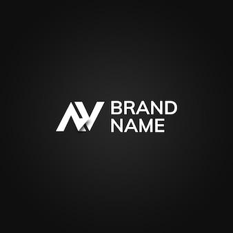 Eenvoudige geometrische logo op zwarte achtergrond