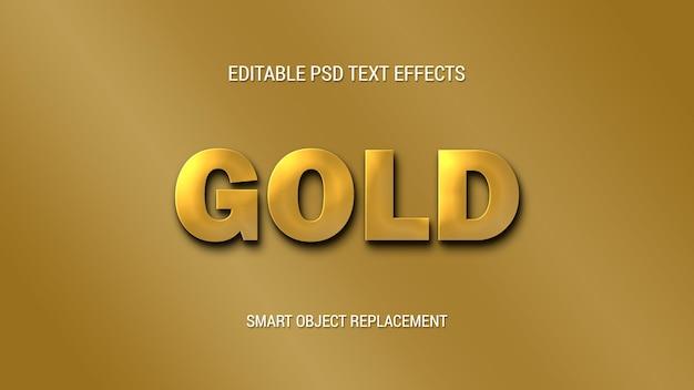 Eenvoudige gouden teksteffecten