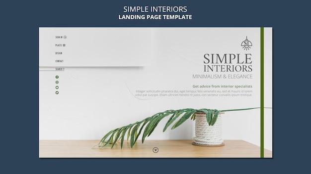 Eenvoudige interieurs websjabloon
