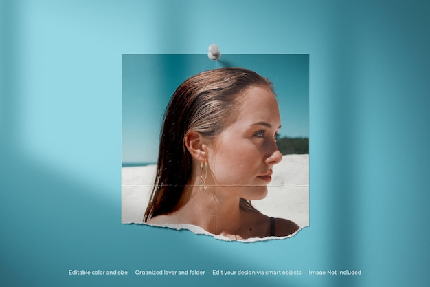 Eenvoudige minimalistische moodboard foto polaroid mockup
