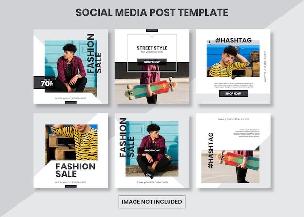 Eenvoudige minimalistische vierkante sociale media post-sjabloon