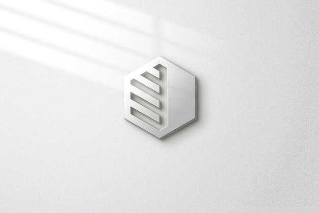 Eenvoudige mockup aan de muur met lichteffecten