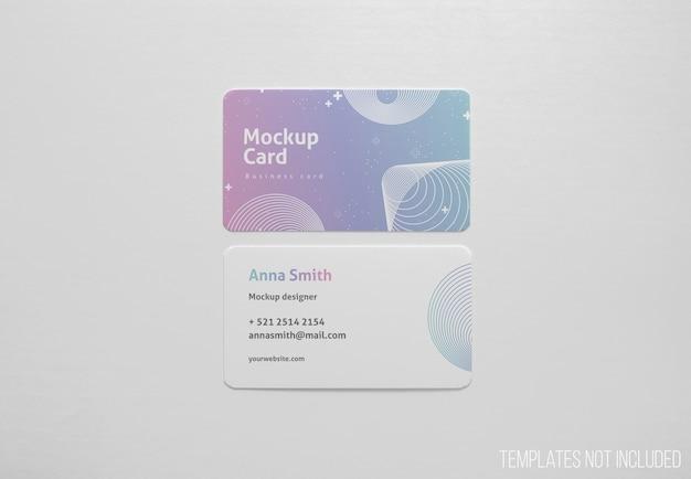 Eenvoudige mockup van visitekaartjes