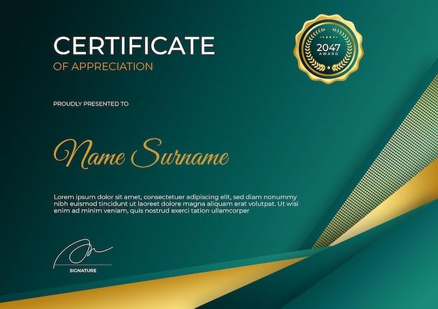 Eenvoudige moderne certificaatsjabloon voor zakelijke zakelijke online onderwijswebinar