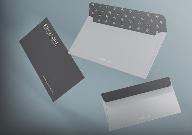 Eenvoudige realistische minimalistische monarch envelop mockup