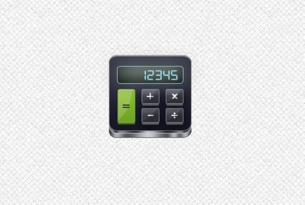 Eenvoudige rekenmachine icoon gelaagde psd