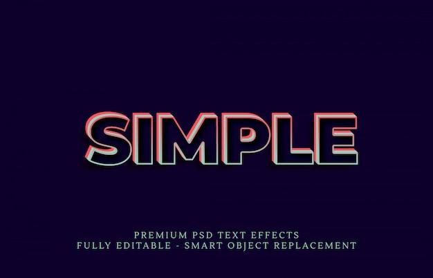 Eenvoudige tekststijleffect psd, premium psd teksteffecten